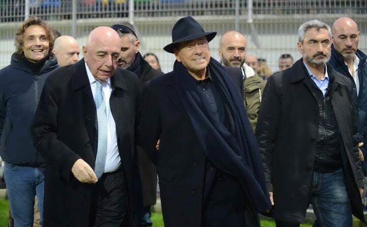 il leader di forza italia con adriano galliani