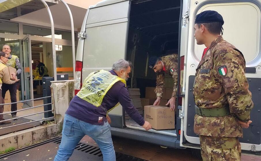il materiale raccolto stato caricato e trasportato