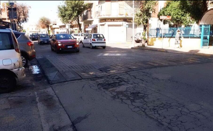 l attraversamento in via marconi (foto g daga)