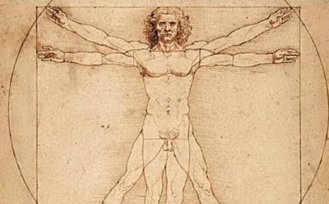particolare de l uomo vitruviano (archivio l unione sarda)