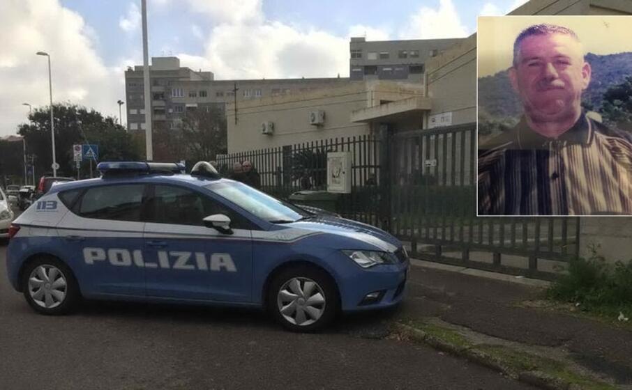 polizia in via crespellani nel riquadro franco matta (foto vercelli)