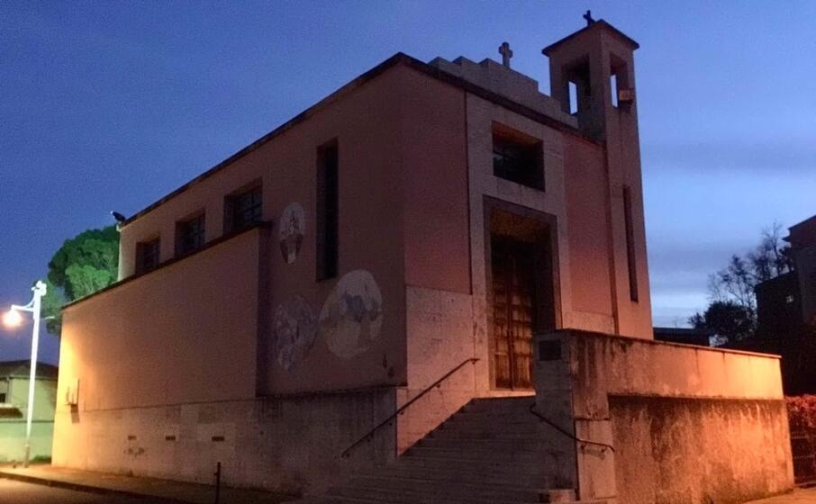 la chiesa di santa barbara a monteponi (foto cinzia simbula)