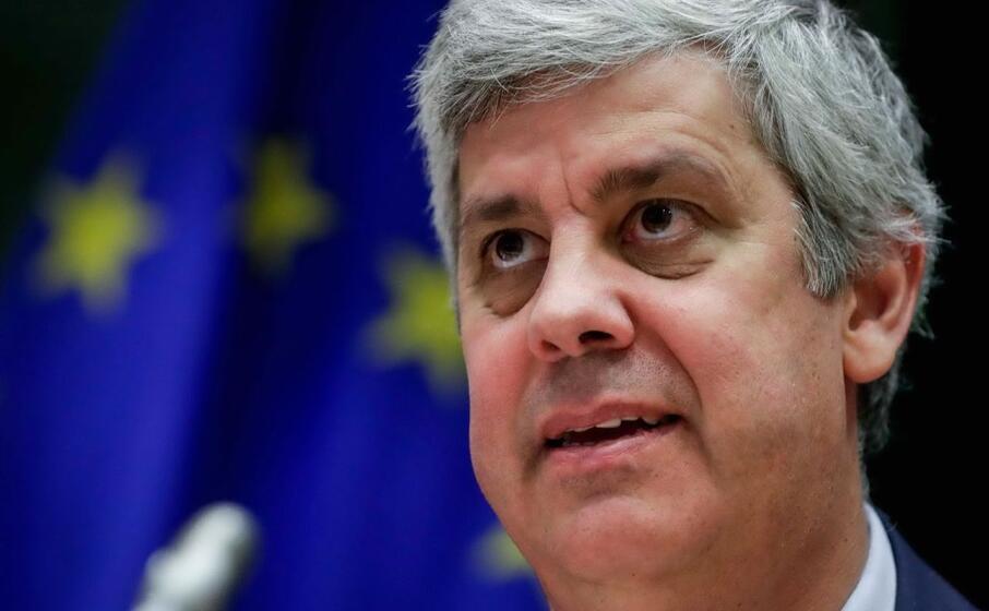 il ministro dell economia portoghese e presidente dell eurogruppo mario centeno (ansa lecocq)