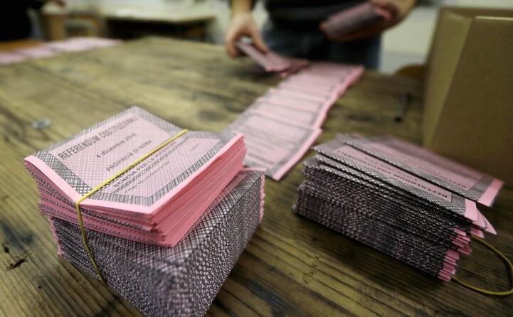 le schede per il voto
