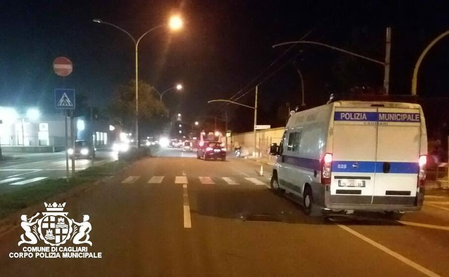 il luogo dell incidente (foto polizia municipale)