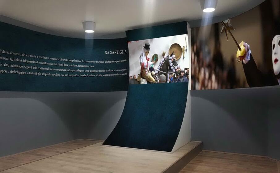 una sala della domo e sa cultura di pula (foto ivan murgana)