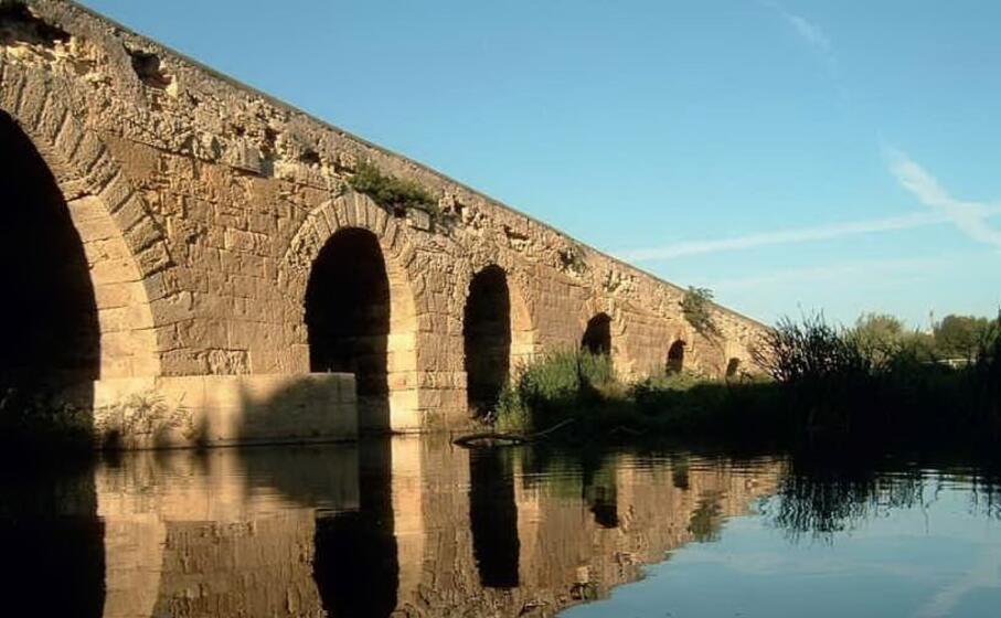 il rio mannu sotto il ponte romano (foto l unione sarda pala)