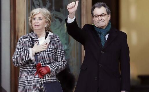 Artur Mas con l'ex ministro catalano Irene Rigau