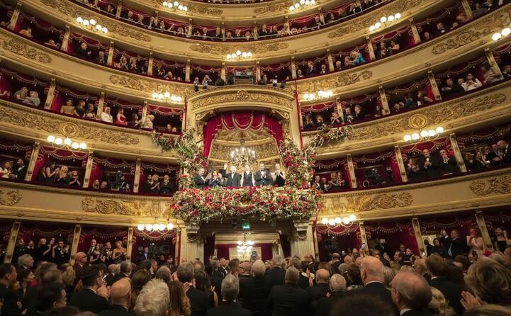 il palco col presidente della repubblica sergio mattarella (ansa ammendola)
