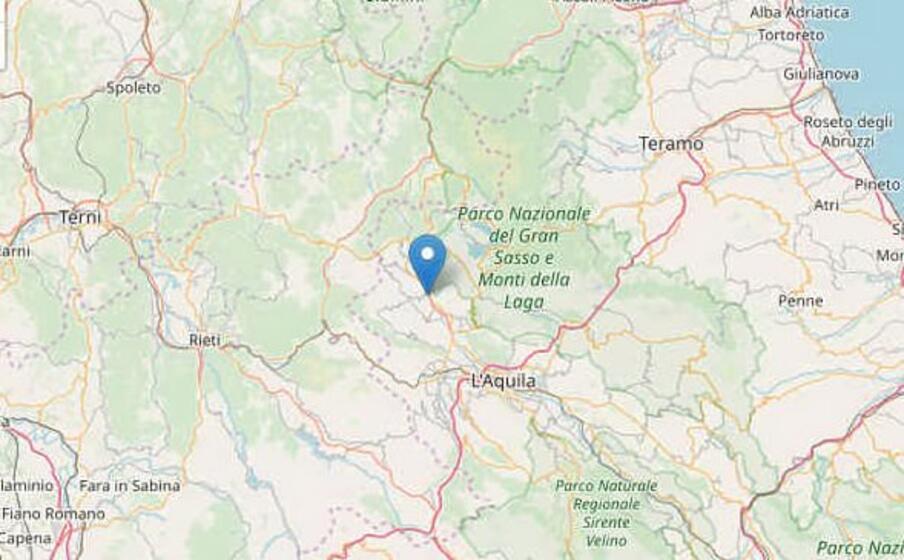 la zona del terremoto (foto ingv)