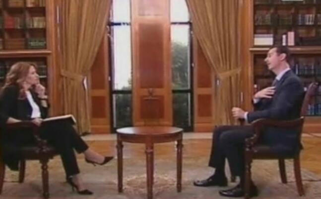 monica maggioni intervista il presidente siriano bashar al assad (ansa)