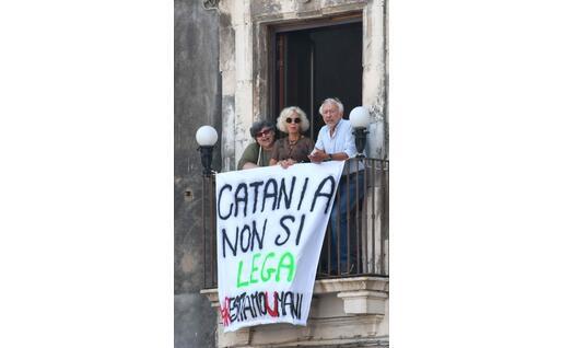 Contestazioni a Catania (Ansa)