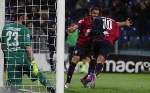 Il gol di Joao Pedro (Ansa)