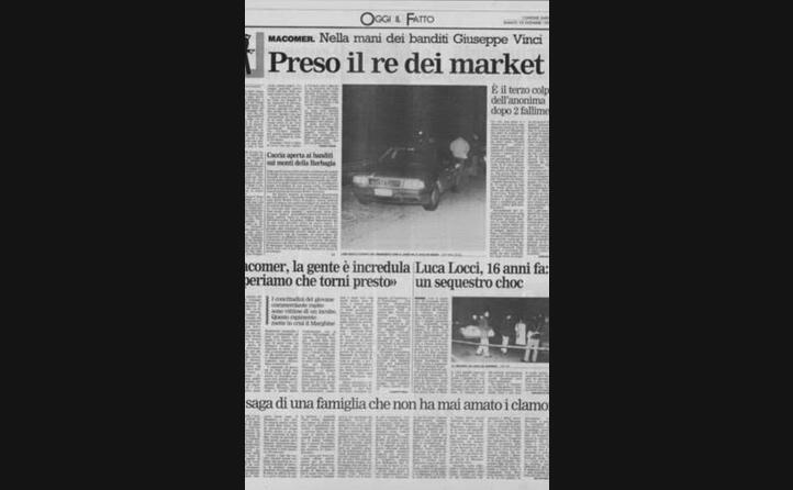 la notizia su una pagina de l unione sarda