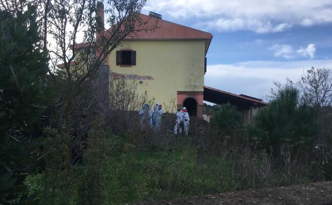 ris e vigili del fuoco nella villa di medadeddu (foto scano)