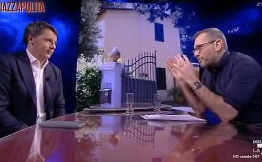 un momento dell intervista (frame piazzapulita)