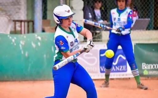 Erika Piras della Nuoro Softball (foto Tiziana Spina)