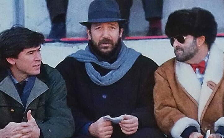 negli anni 80 allo stadio con i colleghi mingardi e lucio dalla per seguire proprio la squadra emiliana