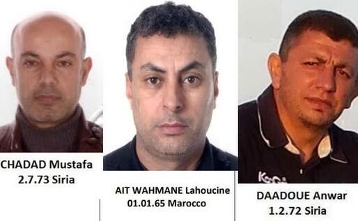 Tre degli arrestati