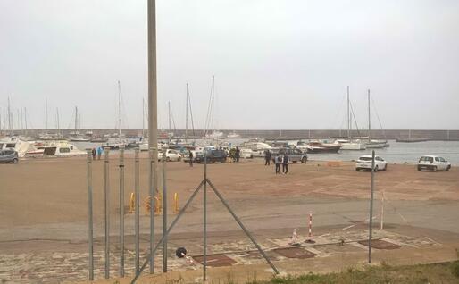 Un'altra immagine del porto dove sono partiti i soccorsi (Foto Maria Gloria Mereu)
