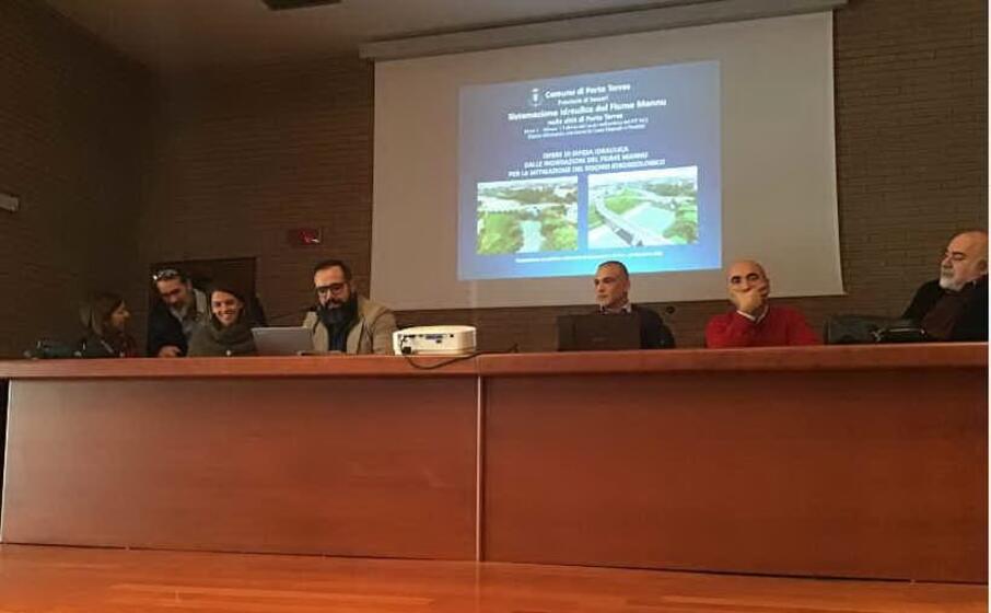 la presentazione del pit fluviale (foto l unione sarda pala)