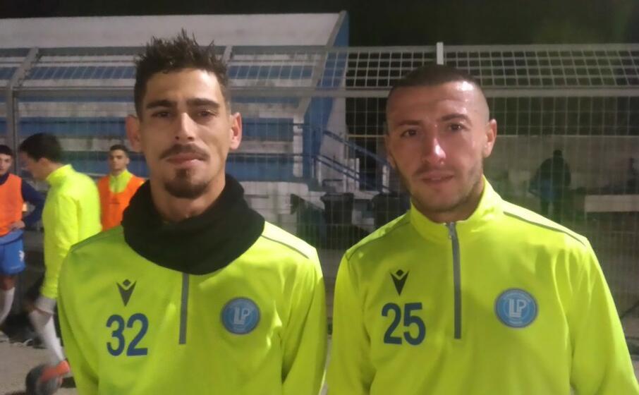 i due nuovi acquisti del li punti calcio luca ruggiu (a sinistra) e giuseppe silvetti (foto l unione sarda tellini)