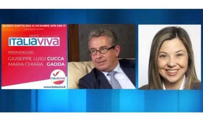 i parlamentari di italia viva giuseppe luigi cucca e maria chiara gadda (foto l unione sarda)