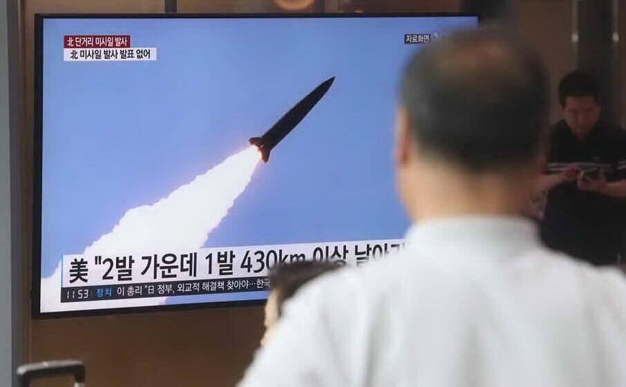 un lancio di razzi in corea del nord (archivio l unione sarda)