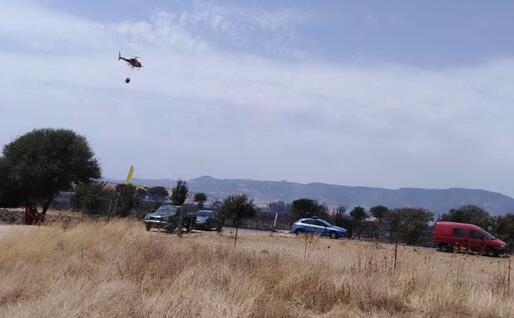 Elicottero in azione (foto Corpo forestale)