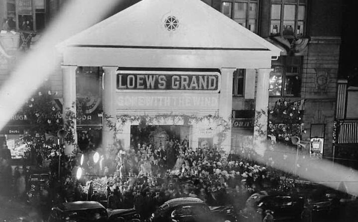 il debutto ad atlanta il 15 dicembre 1939