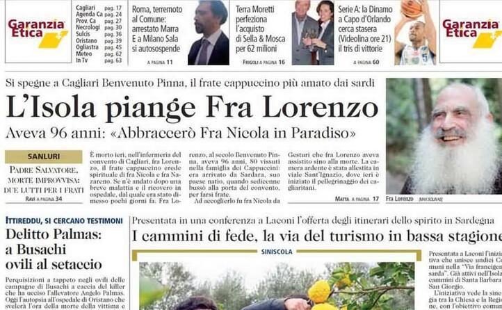la notizia in prima pagina