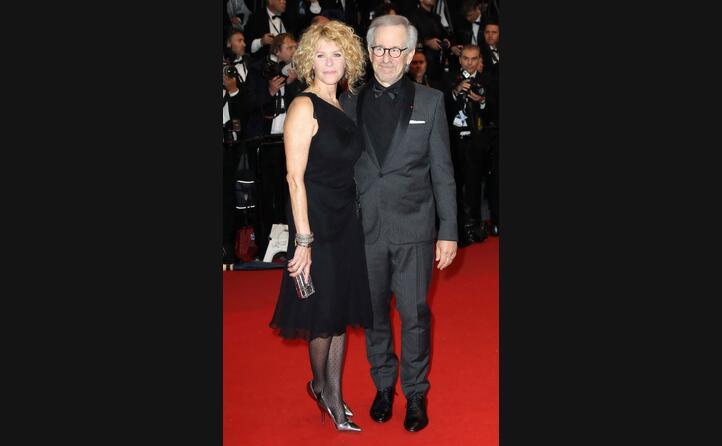 con la moglie kate capshaw