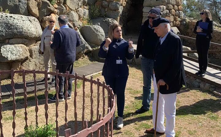 ad aprile ha visitato il sito nuragico di la prisgiona ad arzachena