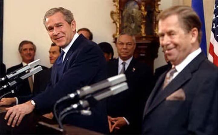 con il presidente usa george w bush