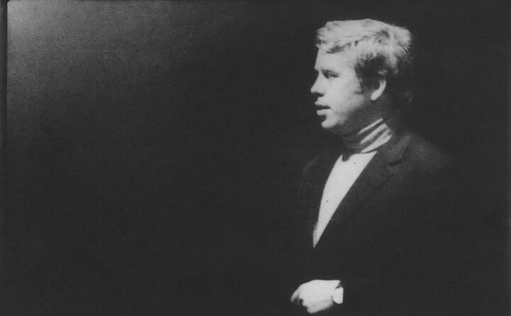il giovane havel in una foto del 1965