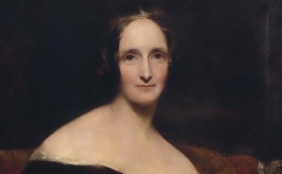 mary shelley in un ritratto di richard rothwell