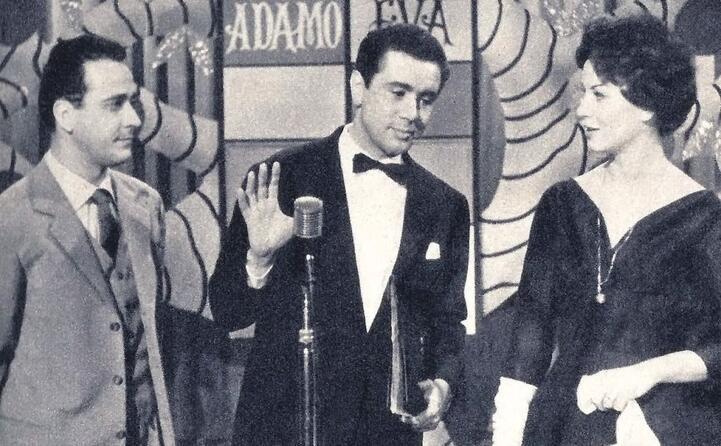 enzo tortora nel carosello durban s adamo ed eva 1959 (foto wikipedia)