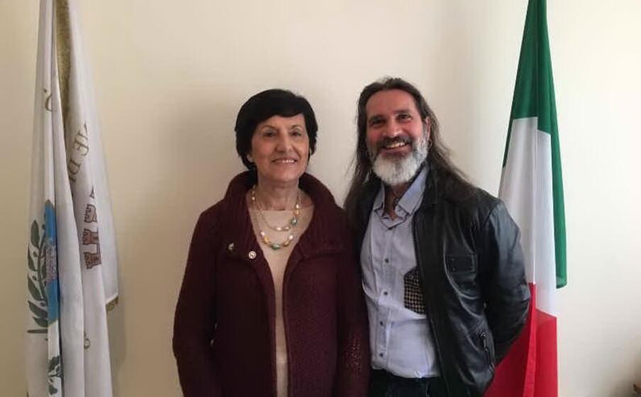 il segretario generale con il sindaco (foto ufficio stampa)