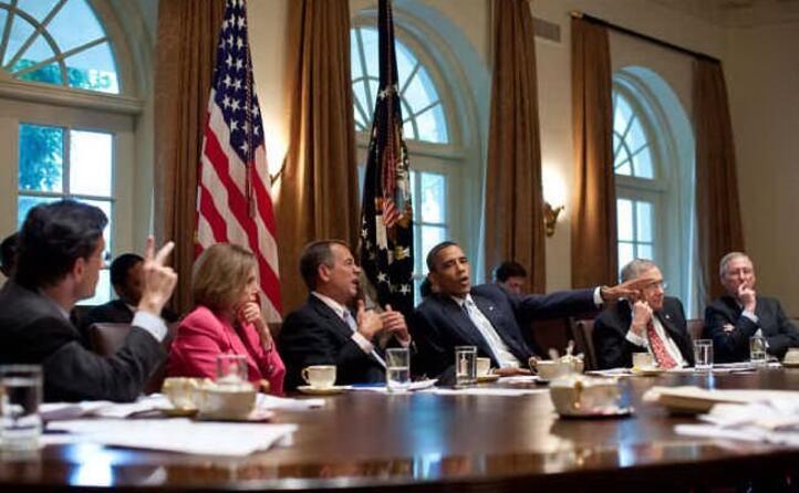 in una foto del 2011 insieme a barack obama