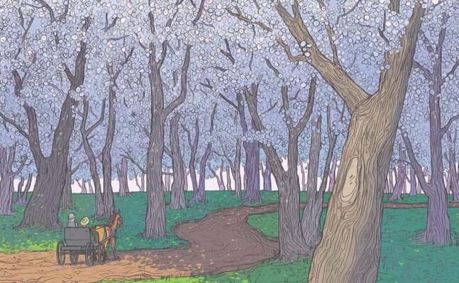 una delle splendide illustrazioni di brenna thummler (immagine concessa ilcastoro)