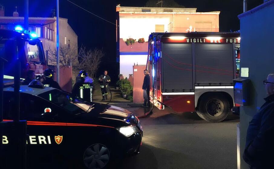 sul posto anche gli uomini del 115 (foto carabinieri)