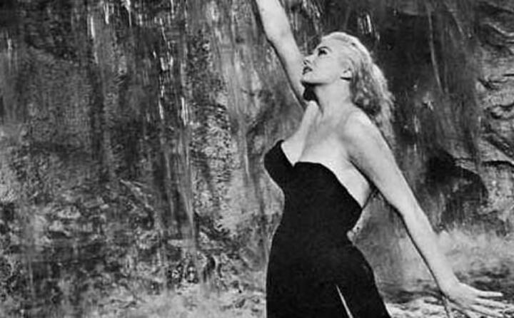 la ekberg in la dolce vita del 1960