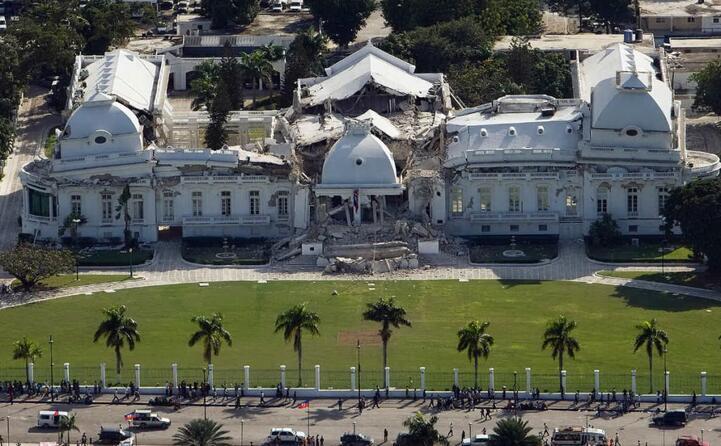 il palazzo nazionale di haiti gravemente danneggiato