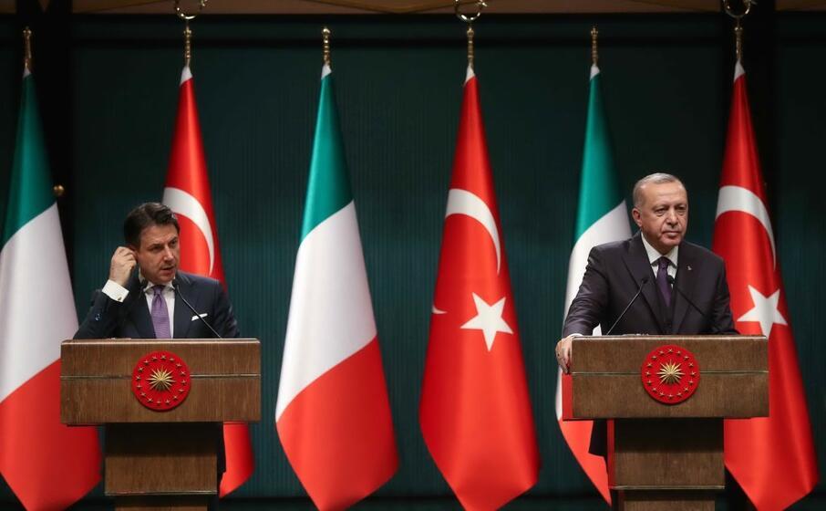 conte ad ankara col presidente turco erdogan (ansa)