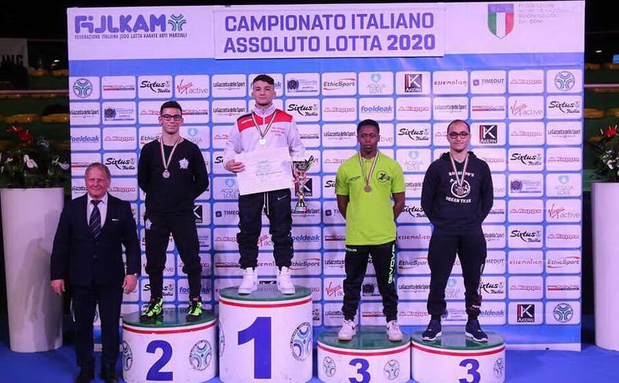 simone vincenzo piroddu nuovo campione italiano assoluto nella 61 kg (foto giovanni maria solinas)