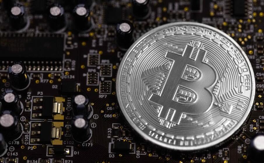 foto simbolo del bitcoin (archivio)