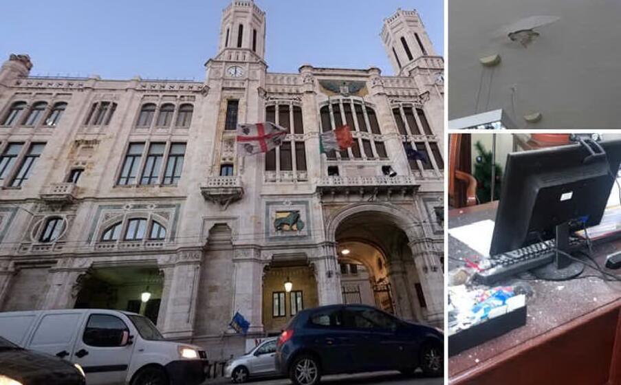 Cagliari, pioggia di calcinacci nell'ufficio del sindaco ...
