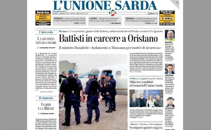 la notizia su l unione sarda