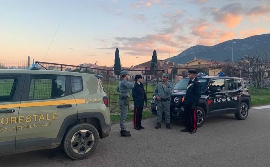 carabinieri e forestale dopo l operazione nella casa del pensionato (foto concessa)