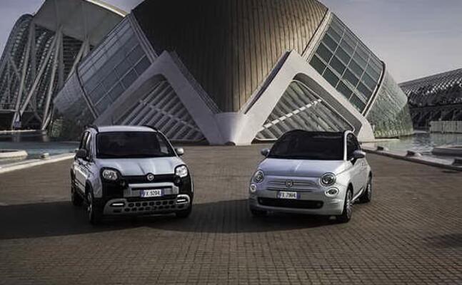 i due nuovi modelli ibridi fiat 500 e panda (ansa)